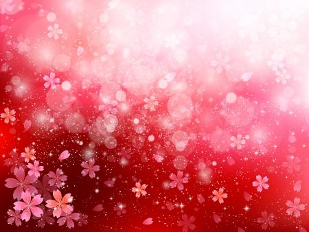 cherry tree: Light background cherry tree Illustration