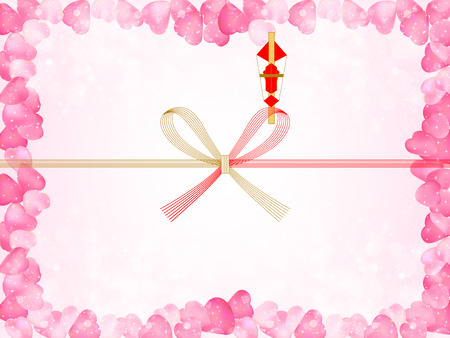 Cherry Noshi background Vector