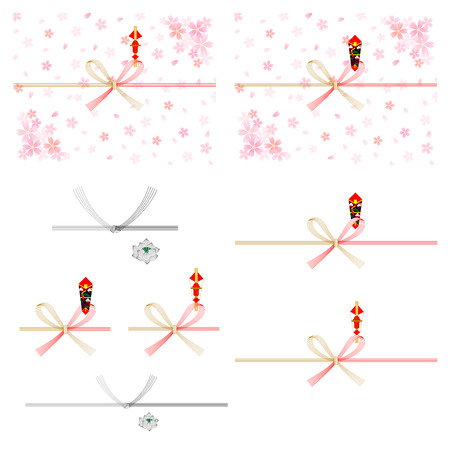 Sakura gift wrapping paper background Vector