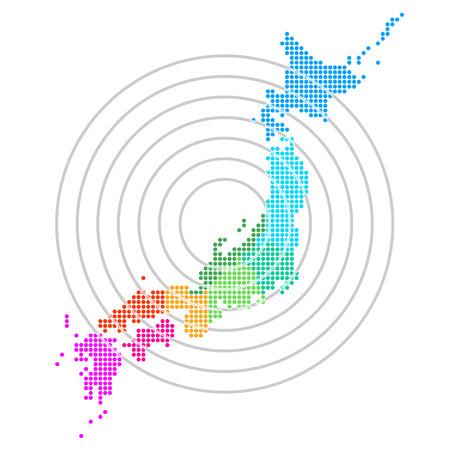 Japon Carte du Japon carte Banque d'images - 24961859
