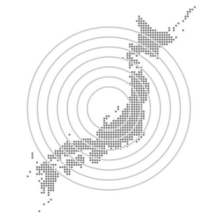 Japon Carte du Japon carte Banque d'images - 24960308
