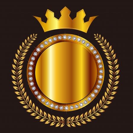 月桂樹の王冠メダル  イラスト・ベクター素材