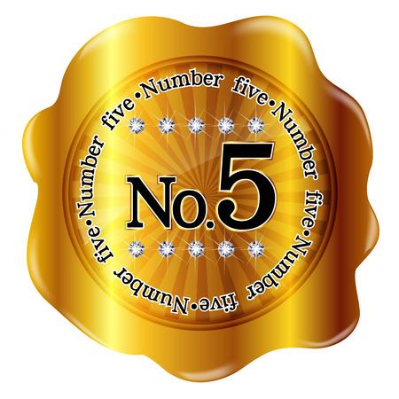 5 メダル フレーム  イラスト・ベクター素材