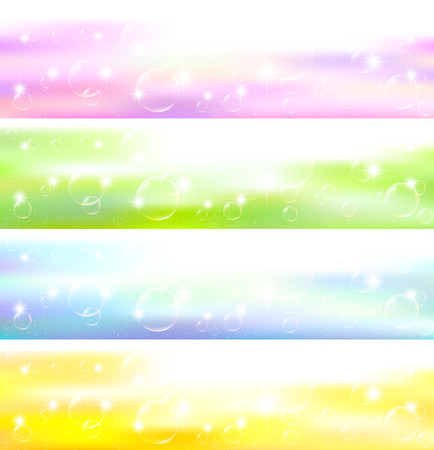 Sky soap bubble background Vector