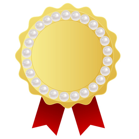 Pearl jewelry frame Vector