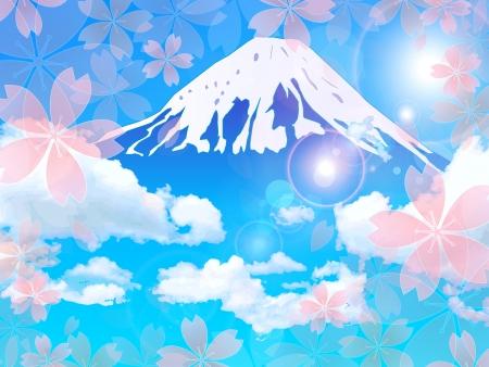 cherry tree: Fuji cherry tree background
