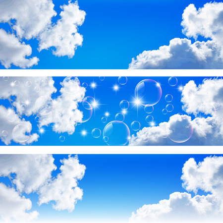空の風景の背景  イラスト・ベクター素材