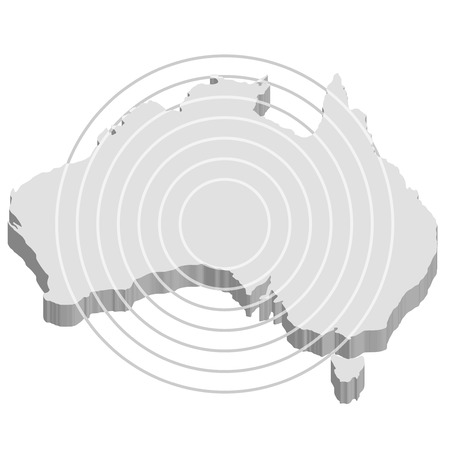 australia map:  Australia map communication