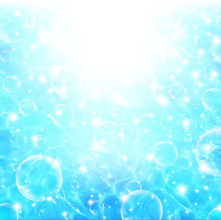 Sea soap bubble background Ilustrace