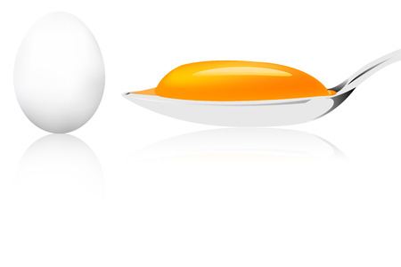 Egg spoon yolk