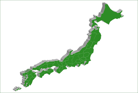 Japan map Japan map Stock Vector - 25668417