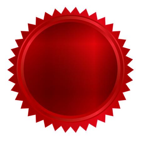 メダルの赤いフレーム  イラスト・ベクター素材