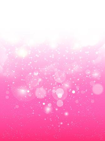 pink tree: Cherry pink background Illustration