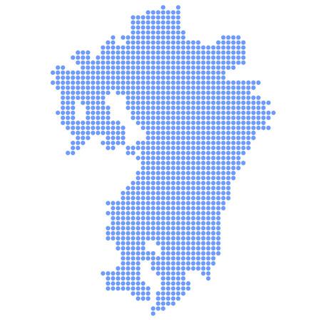 kyushu: Kyushu map circle