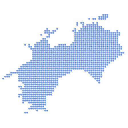 shikoku: Shikoku map circle