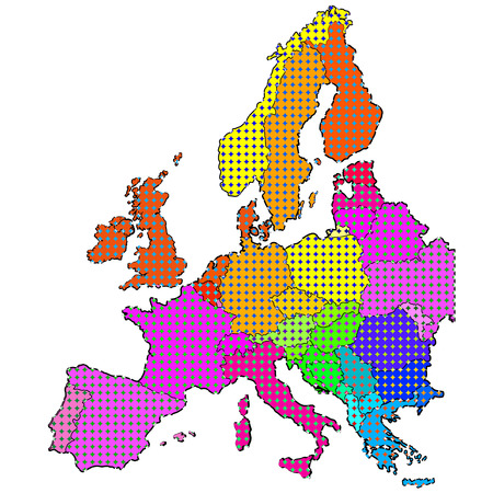 carte europe: Carte de l'Europe Pays Illustration