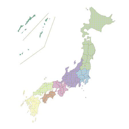 Carte du Japon pays Banque d'images - 26327760
