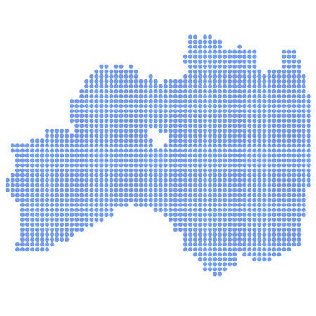 fukushima: kushima map circle Illustration