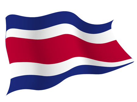 Costa Rica Country flag Vector