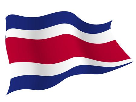costa: Costa Rica Country flag Illustration