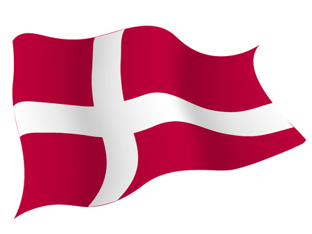덴마크 € € 국가 국기 일러스트