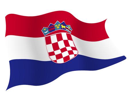 크로아티아 € 국가 국기 일러스트
