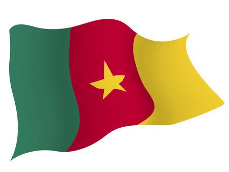 카메룬 € € 국가 국기