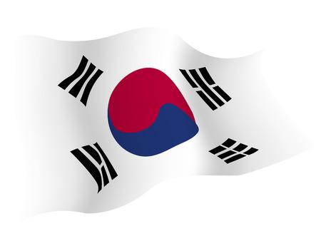 Koreaã € € 국가 국기 일러스트