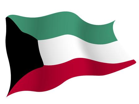 쿠웨이트 € € 국가 국기 일러스트