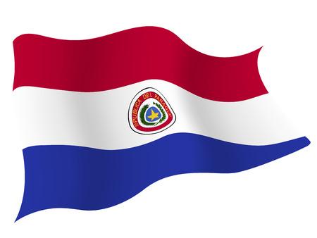 파라과이 € € 국가 국기 일러스트