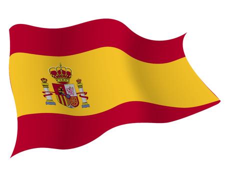 스페인 € 국가 국기 일러스트