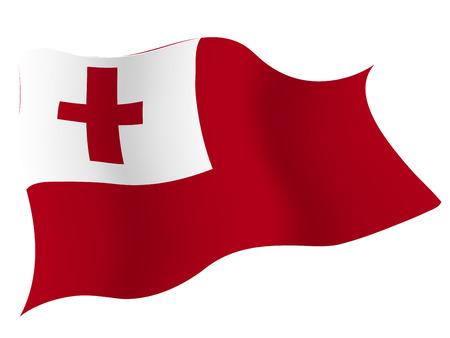 통가 € € 국가 국기