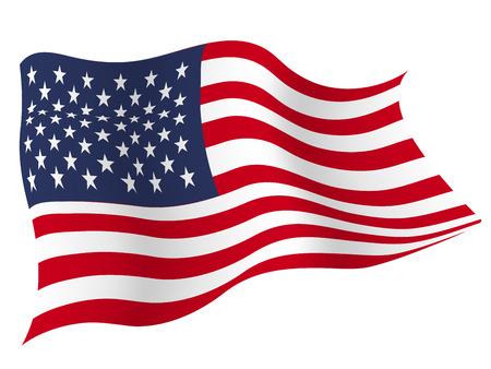 아메리카 € € 국가 국기 일러스트