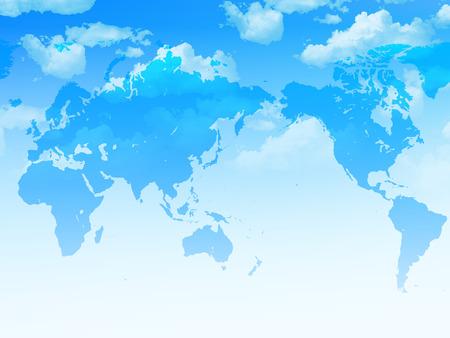 世界地図空風景