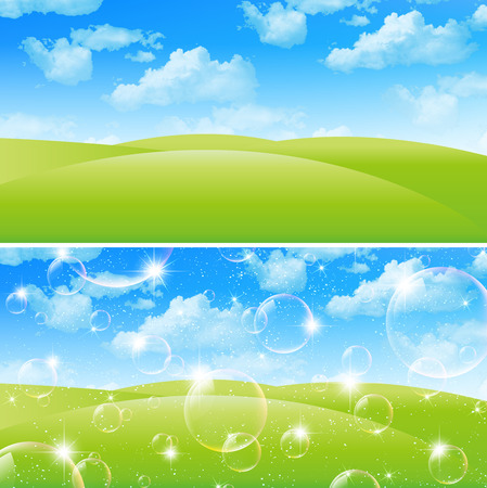 Sky landscape background Vector