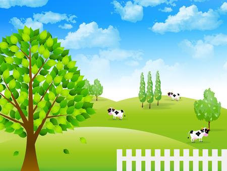 Cattle ranch landscape