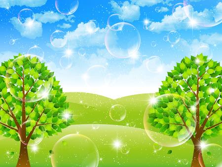 plateau: Fresh green leaf landscape