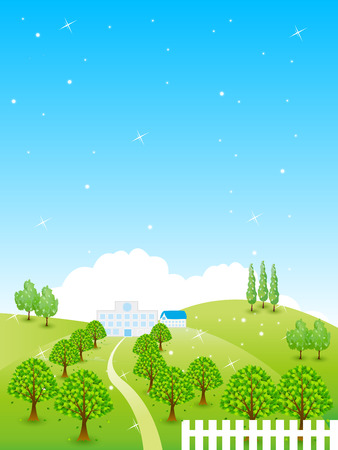 plateau: Fresh green landscape background
