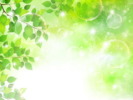 Fresh green sky landscape Vector