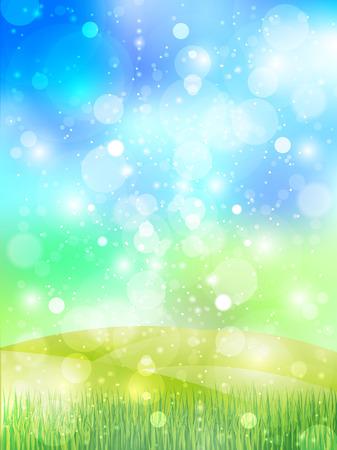 herbe ciel: Ciel fond d'herbe Illustration