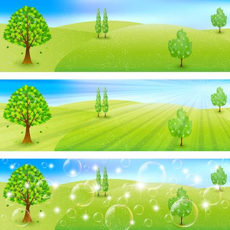 plateau: Ranch sky landscape Illustration