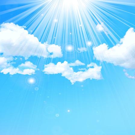 スカイブルーの空の風景