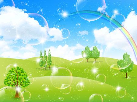 plateau: Sky fresh green landscape