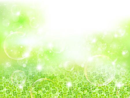 yotsuba: Leaf clover landscape Illustration