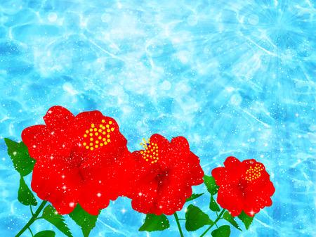 sea landscape: Hibiscus sea landscape