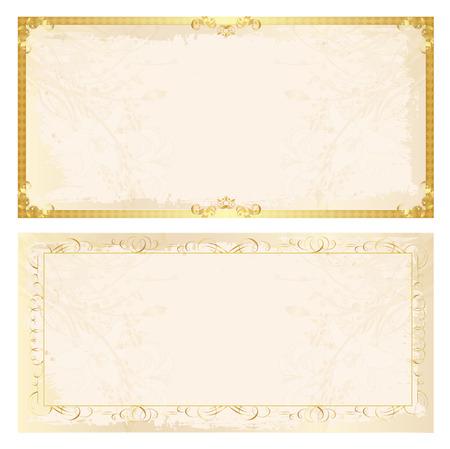 証明書のフレームの背景  イラスト・ベクター素材