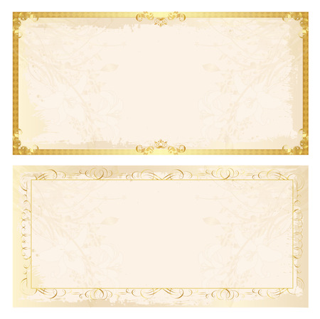 Certificate frame background