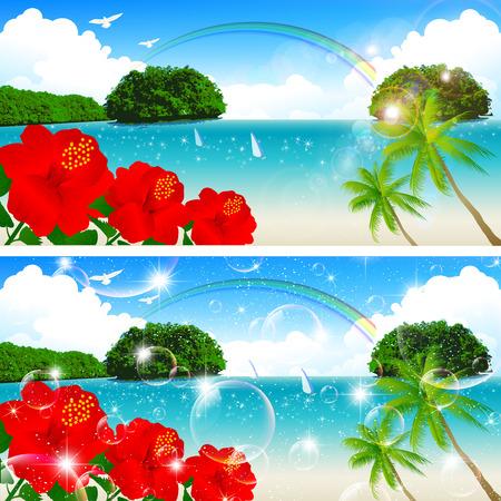 Sea sky landscape Vector