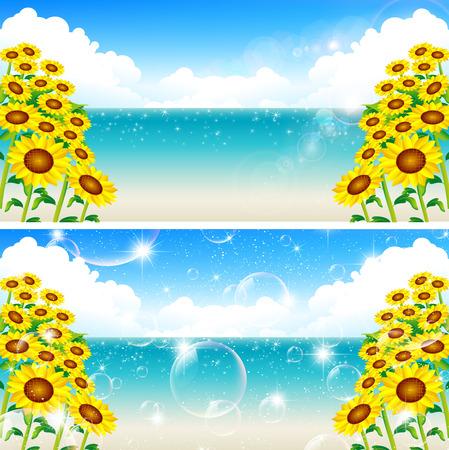 sea landscape: Sunflower sea landscape