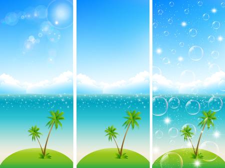 Sea sky landscape